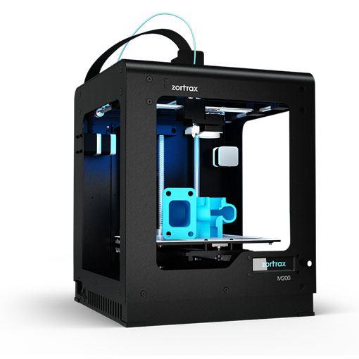 Drukarka 3D zortrax M200 prawy profil wydruk
