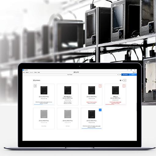 Zortrax M200 Plus Z-suite zarządzanie farmą drukarek 3d