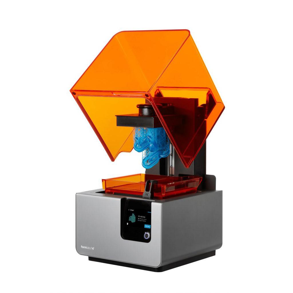 Drukarka 3D Formlabs Form 2 otwarta